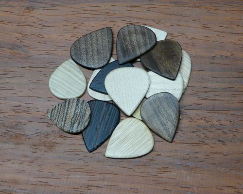 Handcrafted wooden picks