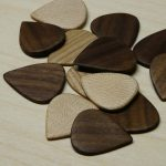 Handcarved hardwood plectrums