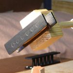 Winding one coil of guitar humbucker