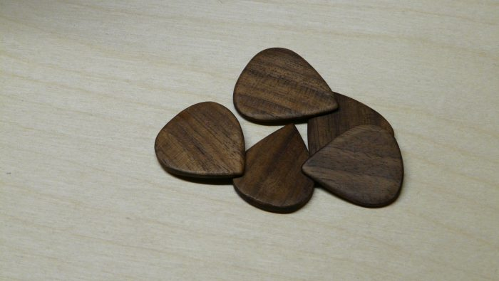 handmade walnut picks