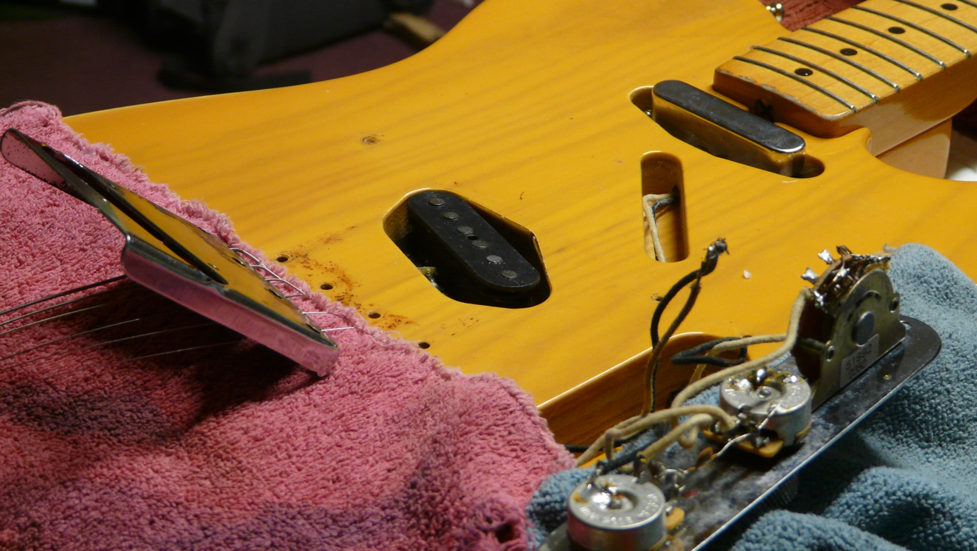 Rewound telecastor bridge pickup