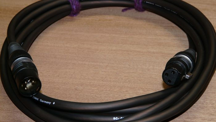 Microphone cable - Black Zilk, Gold - Handwired Affordable Audiophile